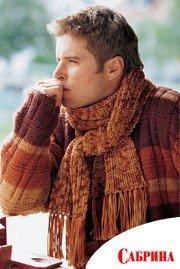 схемы вязания мужских шарфов спицами мода.
