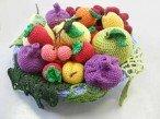 Вязание крючком «Корзина с фруктами»: схема для вязания клубники