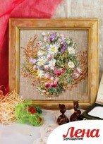 Вышивка лентами: полевой букет