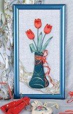 Панно с тюльпанами