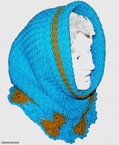 Шапка и шарф в одном флаконе. участники Клуба.  Голосовать.