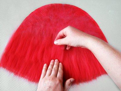 валяние из шерсти, мастер-класс по валянию, мокрое валяние, красная шапочка, анисимова татьяна, валяние, урок онлайн, шапочка своими руками