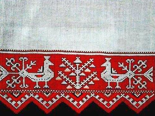 Народная вышивка на полотенцах