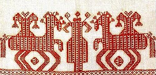 Конь в вышивке значение