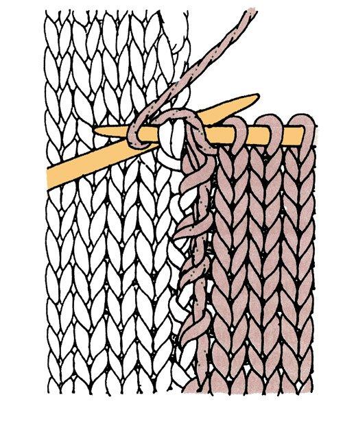 Трикотажный шов в вязании