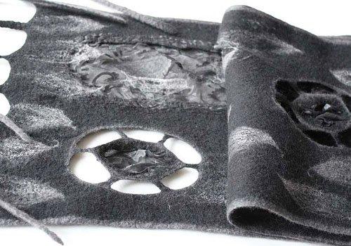 валяние, шарф, Анисимова Татьяна, мыло, мочалка, валяние для начинающих, уроки валяния, валяние из шерсти, сухое валяние, мокрое валяние, modnoerukodelie