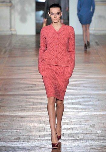 Ирэн №05 2012, мода, тенденции, зима 2013, свитер, пуловер, аранские узоры, топы, платья, STELLA MCCARTNEY