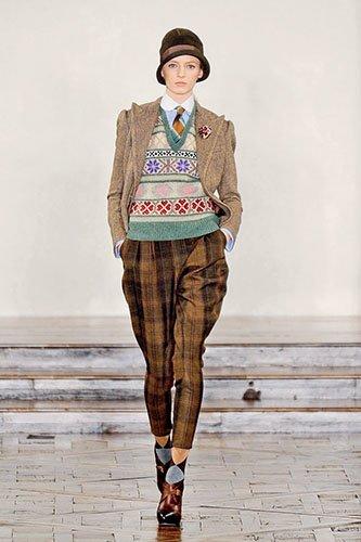 Ирэн №05 2012, мода, тенденции, зима 2013, свитер, пуловер, аранские узоры, топы, платья, RALPH LAUREN