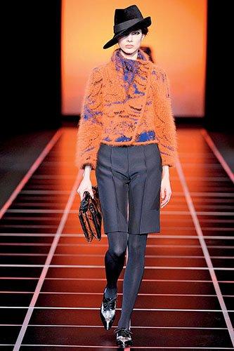 Ирэн №05 2012, мода, тенденции, зима 2013, свитер, пуловер, аранские узоры, топы, платья, GIORGIO ARMANI