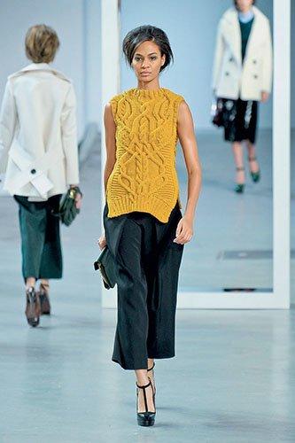Ирэн №05 2012, мода, тенденции, зима 2013, свитер, пуловер, аранские узоры, топы, платья, DEREK LAM