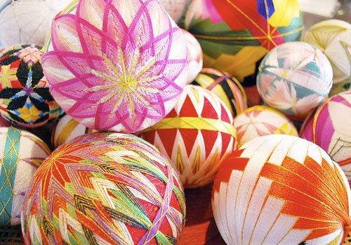 японский шар темари, шары из