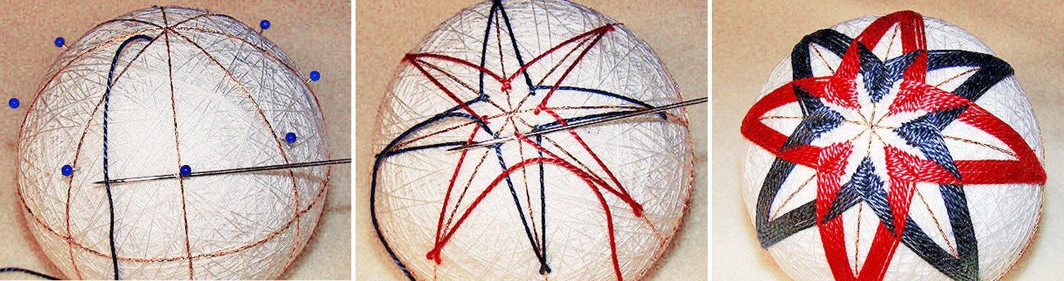 Вышивка шаров темари мастер класс