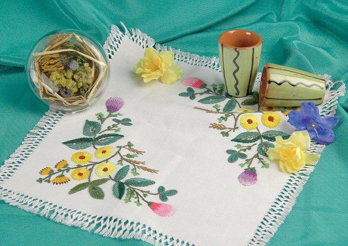 Цветы для вышивки тамбуром